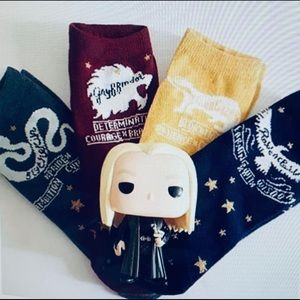 Harry Potter House Socks 4 Pair